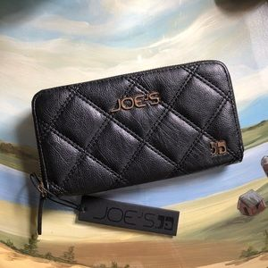 Joes Jeans Black Quilted Wallet
